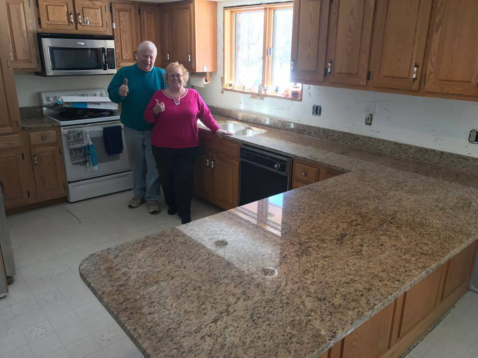New Venitian Gold Granite Counters