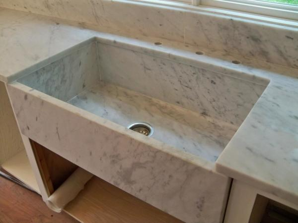White Carrara Marble Countertops, Custom Made, White Carrara Marble Sink, Farm Sink Marble, Farmers Sink Marble, Farmers Sink